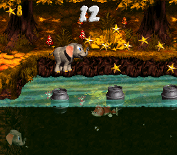 Second bonus area in Bobbing Barrel Brawl