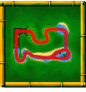 Strangled Shrine course icon from Diddy Kong Racing DS.