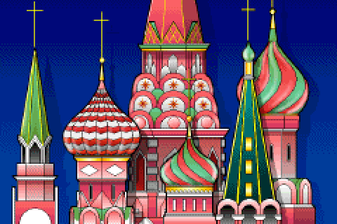 St. Basil's Cathedral in the DOS release of Mario is Missing!