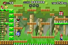 Level 2-3+ of Mario vs. Donkey Kong.
