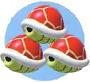 Mario Kart: Super Circuit promotional artwork: Triple Red Shell.