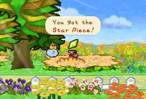 Mario finding a Star Piece  in Flower Fields in Paper Mario