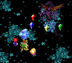 The Water Crystal using Ice Rock during the battle against Culex.