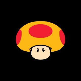 Mega Mushroom stamp from Super Mario 3D World + Bowser's Fury.