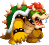 Bowser with the Sick status from Mario & Luigi: Bowser's Inside Story + Bowser Jr.'s Journey.