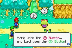 The Hammerhead Bros.' tutorial in Mario & Luigi: Superstar Saga