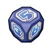 A sticker of Dice Block