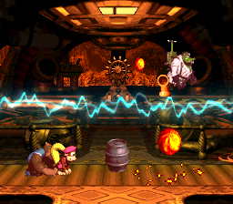 The Knautilus from Donkey Kong Country 3: Dixie Kong's Double Trouble!