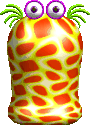 Sprite of a yellow Neuron from Yoshi's Story