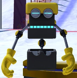 Cubot as he appears in Mario & Sonic at the Sochi 2014 Olympic Winter Games