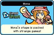 Mona's portrait from WarioWare: D.I.Y.