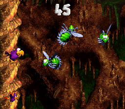 The first Bonus Level in Buzzer Barrage from Donkey Kong Country 3: Dixie Kong's Double Trouble!