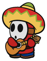 A Sombrero Guy in Paper Mario: The Origami King