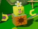 Cheery Valley's Blockafeller in Yoshi's Crafted World.