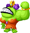 Sprite of Queen Bean with only her left arm from Mario & Luigi: Superstar Saga + Bowser's Minions.