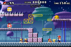 A portion of Level 5-6+ from the game Mario vs. Donkey Kong.