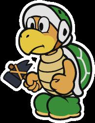 Hammer Bro sprite from Paper Mario: Color Splash