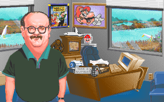 David Grenewetzki in the PC release of Mario's Time Machine