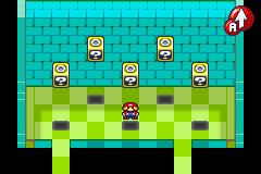 Hidden? Block location in Beanbean Castle, in Mario & Luigi: Superstar Saga (revealed).