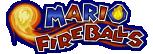 The logo for the Mario Fireballs, from Mario Super Sluggers.