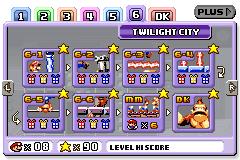 Twilight City level selection in Mario vs. Donkey Kong