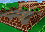 The icon for Pipe Plaza, from Mario Kart Double Dash!!.
