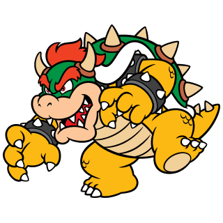 Bowser stamp from Super Mario 3D World + Bowser's Fury.