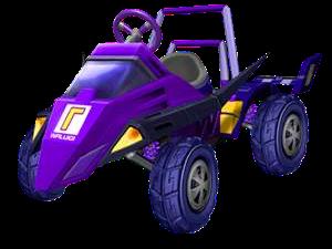 The Waluigi Racer from Mario Kart: Double Dash!!