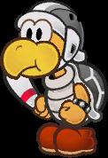 Sprite of a Boomerang Bro from Super Paper Mario.
