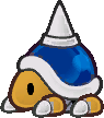 Sprite of a Spike Top from Super Paper Mario.