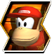 Diddy Kong's character selection icon from Donkey Kong Barrel Blast.