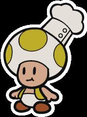 Tangerino Grill Chef sprite from Paper Mario: Color Splash.