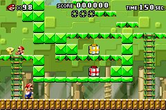Level 2-1+ of Mario vs. Donkey Kong.