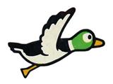 A sticker of Duck