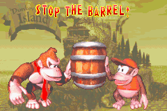 Stop the Barrel! Bonus Area title card in Donkey Kong Country
