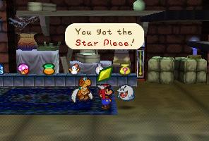 Mario getting a Star Piece from Igor in Paper Mario