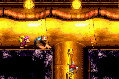 The location of the letter G in Surf's Up in the European and Japanese versions of Donkey Kong Country 3 on Game Boy Advance. It does not appear in the North American version
