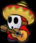 A Sombrero Guy from Paper Mario: Sticker Star