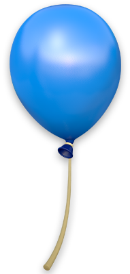 Artwork of a Blue Balloon from Donkey Kong Country: Tropical Freeze.