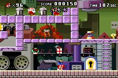 Level 1-6+ of Mario vs. Donkey Kong.