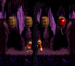 Manic Mincers' third bonus area from Donkey Kong Country