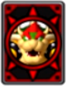 Bowser Card from MPIT, Shy Guy Shuffle City.