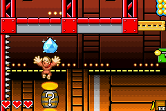 Donkey Kong jumps up to a Crystal Coconut in K. Kruizer III Engine in DK: King of Swing