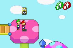 Hidden? Block location in Little Fungitown, in Mario & Luigi: Superstar Saga.