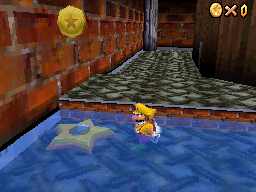 The location of the Star Switch in Big Boo's Haunt in Super Mario 64 DS