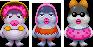 Sprites of the Gwarhar Lagoon residents from Mario & Luigi: Superstar Saga + Bowser's Minions