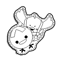 A Stamp from Yoshi's Woolly World.