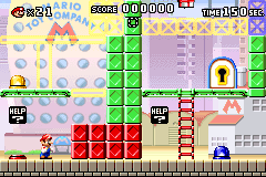 Level 1-6 in Mario vs. Donkey Kong