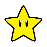 Super Star stamp from Super Mario 3D World + Bowser's Fury.