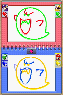 Gameplay of Double Vision in Mario Party DS.